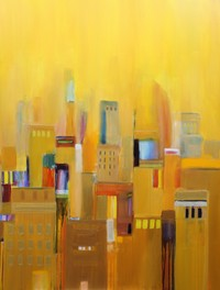NYC Bank Building oil on canvas 60x48